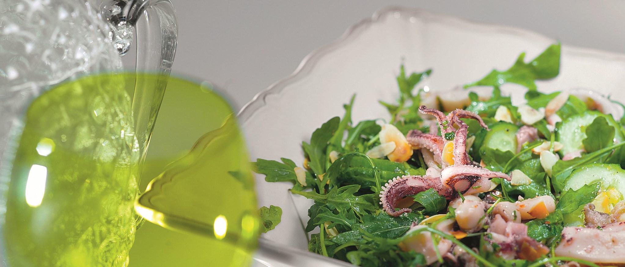 Салат с морскими гадами рецепт с