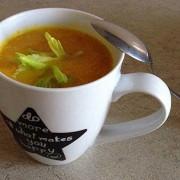 Тыквенный суп пюре с кокосовым молоком и кокосовым маслом