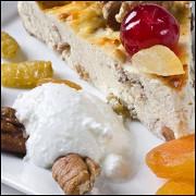 Сливочная пасха с орехами, цукатами и цедрой