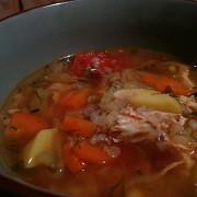 Гречневый суп с курицей и овощами