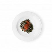 Тальолини с чернилами каракатицы и красной икрой