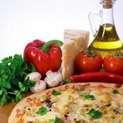 Пицца с черемшой и маринованными грибами