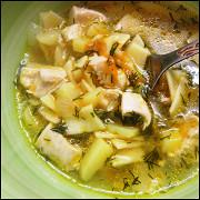 Наваристый куриный суп с макаронами
