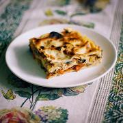 Запеченная овощная лазанья по-средиземноморски