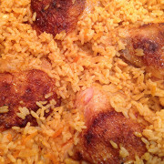 Курица в рисовой шубе