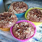 Маффины шоколадные с отрубями и банановым центром