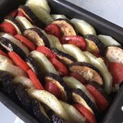Овощная запеканка с баклажанами и кабачками