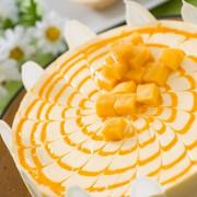 Кокосовый торт с манго