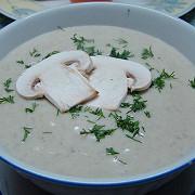 Картофельный суп-пюре с грибами шампиньонами