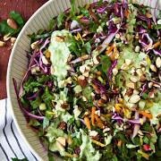 Салат из мангольда и капусты
