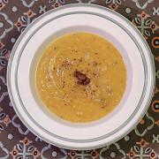 Тыквенный суп-пюре с вешенками и майораном