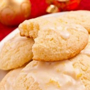Печенье из рикотты с глазурью из лимончелло
