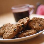 Кукурузное печенье с миндалем