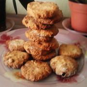 Овсяное печенье с орехами и цукатами
