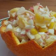 Салат из крабовых палочек и апельсинов