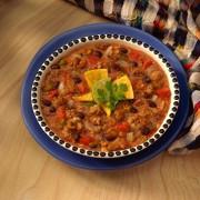 Мексиканский суп с фаршем и овощами
