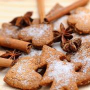 Рождественское имбирное печенье в глазури