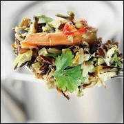 Каша карри из дикого риса с креветками