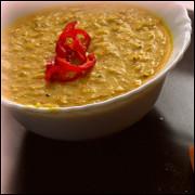 Кукурузный крем-суп с карри и кокосом