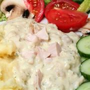 Куриное филе в соусе сырном