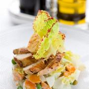 Салат оливье от шеф-повара ресторана «Большой» с филе цыпленка на гриле