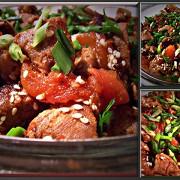 Жаркое из свинины со сладким перцем и помидорами