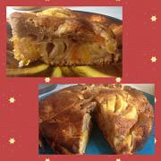 Абрикосово-яблочный пирог