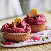 Капкейки с ягодным кремом