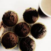 Райские шоколадные маффины с кусочками шоколада