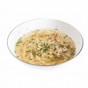 Куриный суп из базарной курицы с домашней лапшой
