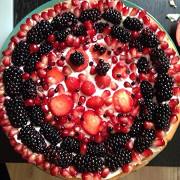 Йогуртовый кекс с ягодами