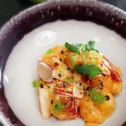 Креветки в соусе кимчи