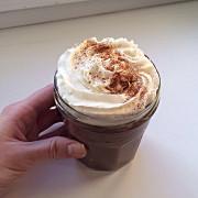 Овсяная каша аля горячий шоколад со взбитыми сливками
