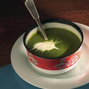 Крем-суп из шпината и кресс-салата