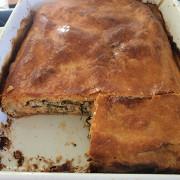 Пирог с семгой и брынзой