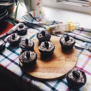 Шоколадные капкейки с печеньем Оrео