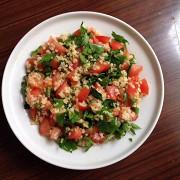 Холодный салат с булгуром