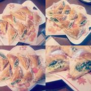 Пирожки с фетой и шпинатом (Spanakotiropita)