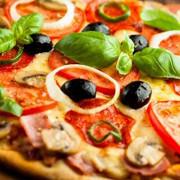 Пицца с колбасой, балыком и шинкой «Перфетта»