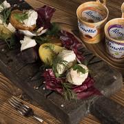 Овощные закуски с творожным сыром