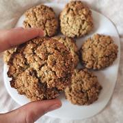Овсяно-рисовое печенье с семенами льна