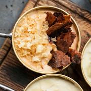 Картофельное пюре с беконом и чесноком