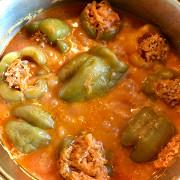 Фаршированные перцы с овощами