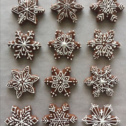 Рождественские карамельные пряники