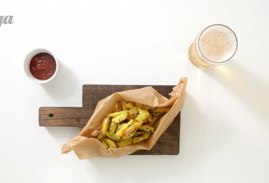 Фото приготовления рецепта: Картофель «Айдахо» - шаг 4