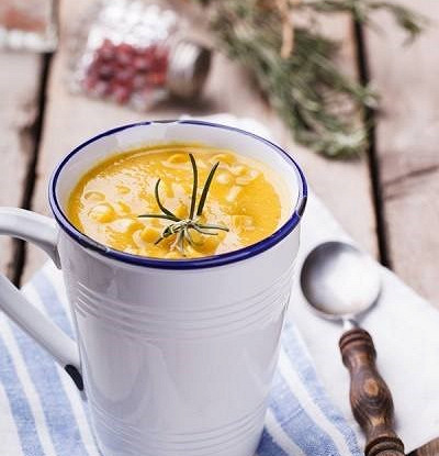 Пряный суп-пюре из кукурузы