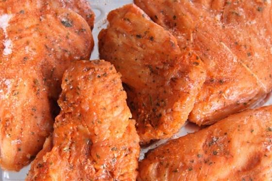 Курица в абрикосовой глазури на гриле