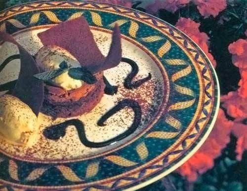 Шоколадный крем-мусс с эстрагоном