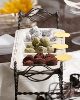 Шоколадные трюфели с ванилью