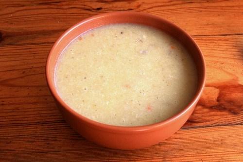Суп молочный с горохом и перловой крупой